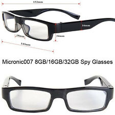 32GB HIDDEN SPY CAMERA DVR SLIM GLASSES 720P VIDEO RECORDER & AUDIO MICROPHONE