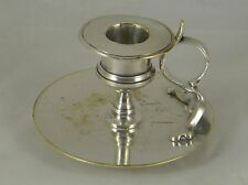 Unusual Antique Polish Silver Plate Chamberstick Fraget Russia 1905