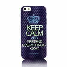 "Crown ""Keep Calm and Pretend Everything is OK"" Case Cover Skin for iPhone 5 5S"