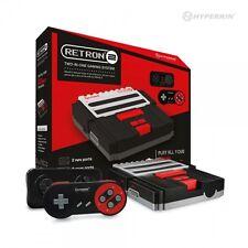 RetroN 2 2in1 Super Nintendo SNES & NES Retro Video Game Twin Console - Black