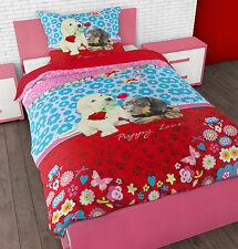 Duvet Cover & Pillow Case Bedding Set Microfiber  Kids Puppy Love from Sleeptime