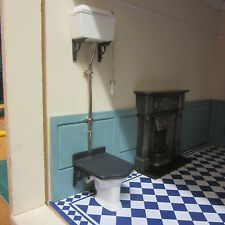1/12 scale Dolls House Victorian Toilet  Kit   unpainted .   LA 01 DHD