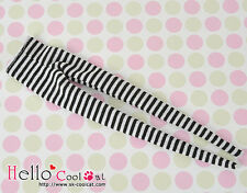 ☆╮Cool Cat╭☆【PP-142】Pullip Pantyhoses Doll Socks # Stripe Black+White