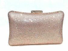 US Stock Champagne ~Unique Evening Handmade Rhinestone Crystal Purse Clutch Bag