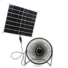 Solar fan powered  10w USB  Panel Portable for Home or Outdoor Cooling