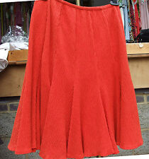 Joseph Ribkoff BNWT UK 10 Fabulous Vibrant Orange Crinkle effect Tulip Skirt
