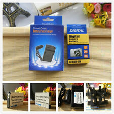 Battery + Charger for Samsung Digital Camera SLB-10A SLB10A Rechargeable Li-Ion