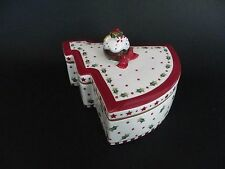 "Villeroy & Boch ""Winter Bakery Decoration"" 14-8613-4522. 8"" x 7""x 2.5"" deep."