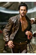 Designer Celebrity Men's Da vinci Demons Distress Brown Real Leather Jacket