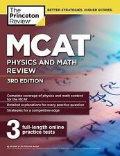NEW MCAT Physics and Math Review, 3rd Edition by Princeton Review Paperback Book