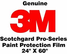 "Genuine 3M Scotchgard Pro Series Paint Protection Film Clear Bulk Roll 24"" x 60"""
