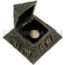 Egyptian Pyramid Jewelry Trinket Box Ancient Egypt Tomb Osiris Eye Isis Dashur