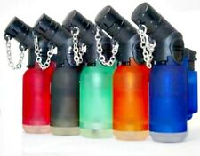 20 Pack 45 Degree Angle Jet Flame Butane Torch Lighter Refillable Windproof