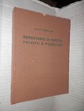 REPERTORIO DI DIRITTO PRIVATO E PUBBLICO Attilio Giambelluca Vallardi 1960 libro