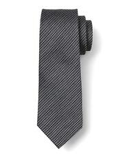 BANANA REPUBLIC Tonal Solid Necktie Tie in Smoking Gray Fall 2016 $50 NWT