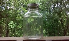 Vintage Karo Syrup Wire Handle Glass Jar Half Gallon