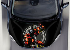 Dead Pool #1 Car Hood Wrap Full Color Vinyl Sticker Decal Fit Any Car
