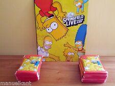 SIMPSON SPRINGFIELD LIVE ALBUM FIGURINE PANINI STICKERS 50 BUSTINE Tüten packets
