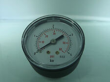 Air Pressure Gauge 1/8 bsp Rear Entry 40mm dial 0-60psi- bar Max