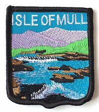 Isle of Mull Scotland Embroidered Patch (A298)