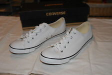 NEW CONVERSE ALL STAR ATHLETIC SHOES WHITE W/ BLUE STRIPE WOMEN'S SIZE 11