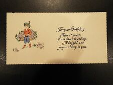 """""""For Your Birthday"""" Vintage Greeting Card"""