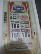 Vintage Tamiya 58059 Porsche 959 Paris Dakar Rally Rothmans Decal Set NEW