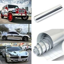 1Role Mirror Electroplating Chrome Vinyl Wrap Film Auto Car Sticker Decal Silver