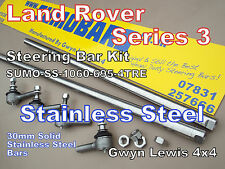 Land Rover Series 3 STAINLESS STEEL Steering Bars + Track Rod Ends SUMOBARS