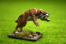 DeeZee Miniatures SMILODON or SABRE TOOTH TIGER (Attacking) DZ13 28mm Wargames