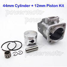 44mm Cylinder 12mm Piston Kit For 49cc 2 Stroke Engine Mini ATV Pocket Dirt Bike