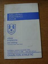 01/03/1969 Millwall v Charlton Athletic  (Light Crease, Match Details On Back)