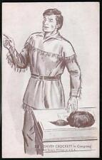 DAVEY CROCKET Vintage B&W Penny Arcade Exhibit Vending Card Davy In Congress #15