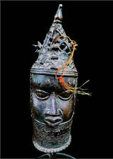 Old Tribal Benin Bronze Head Of Oba (King) Edo, ---Nigeria