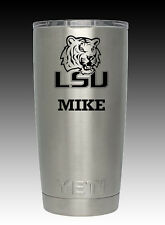 YETI Ramble 20 oz LSU Tigers stainless  cup tumbler laser engraved custom