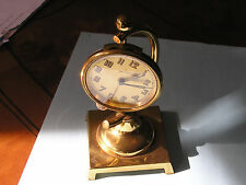 Junghans,car clock with alarm and brass pocket watch display , working + rare