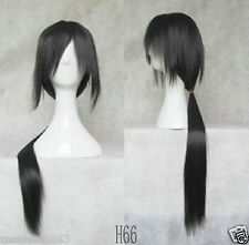 CARTOON caratteri Uchiha itachi 80cm Long Straight Nero Parrucca Cosplay