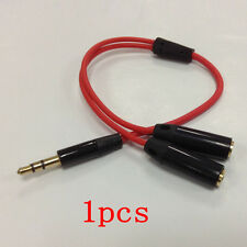 3.5mm Stereo Headphone Audio Male To 2 Female Y Splitter Cable Adapter Jack