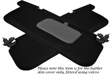 BLACK STITCH FITS SUBARU IMPREZA WRX STI 92-98 2X SUN VISORS LEATHER COVERS ONLY