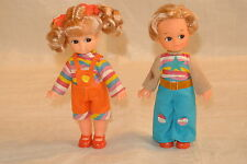 Brother and Sister Vintage Vinyl Dolls from Hong Kong