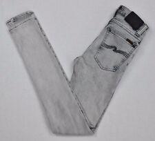 Nudie jeans high kai organic noir bleach women's slim leg jean DA0003 W25 L32