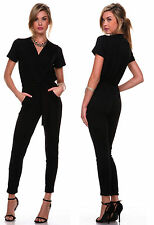 BLACK Sexy Ladies Women Cocktail Evening Party V Neck Jumpsuit Romper Pants 3XL