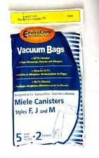envirocare 5 Miele FJM Micro Allergen filtration Vacuum cloth Bags & 2 Filters
