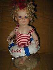 Coca Cola Betsy - Sammelfigur Puppe Doll von Franklin Mint  - Porzellan - rar