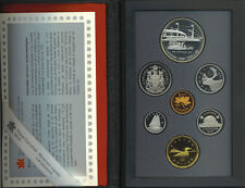 Canada 1991 Double Dollar Proof Coin Set Frontenac Silver $1 RARE 25 Cents COA