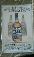 BRAND NEW Jack Daniel's Cream Metal Sign -UK Seller
