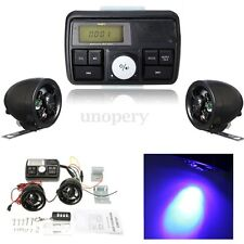 Motorcycle Handlebar Skull Audio Radio Stereo Amplifier Alarm System Speaker USB