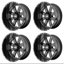 MOTO METAL MO962 MO96289063300 RIMS SET OF 4 18X9 0MM OFFSET 6X135 GLOSS BLACK