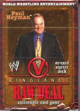 WWE Raw Deal CCG Vengeance Paul Haymen Starter Deck MINT