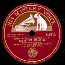 BARNEY BIGARD & HIS ORCHESTRA  Lament for Javanette / Ready Eddy   78rpm  X1339